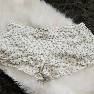 New! Victoria's Secret Silk SnowFlake PJ Shorts